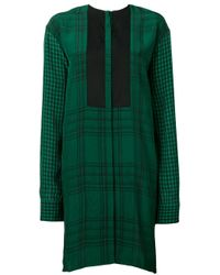Robe courte à carreaux Haider Ackermann en coloris Green