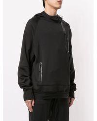 Sudadera con capucha y bolsillos Koral de hombre de color Black