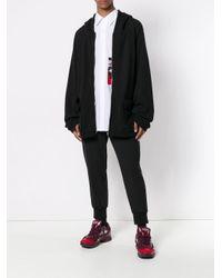 Yuiki Shimoji Black Graphic Print Oversized Hoodie