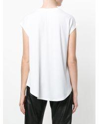 DKNY - White Logo Patch T-shirt - Lyst