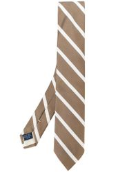Fashion Clinic Timeless - Brown Striped Tie for Men - Lyst