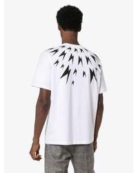 T-shirt con stampa di Neil Barrett in White da Uomo