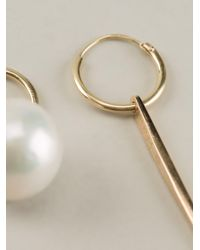 Wouters & Hendrix - Metallic 18kt Yellow Spike And Pearl Earrings - Lyst