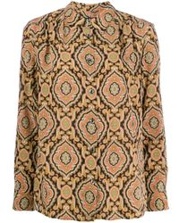 Camisa con estampado de cachemira A.P.C. de color Black