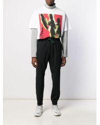 Versace Jeans T-Shirt mit Kaktus-Print in White für Herren