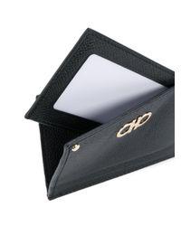 Ferragamo - Black Gancini Cardholder for Men - Lyst