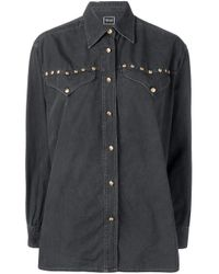 Versace Pre-Owned Black Long-sleeve Buttoned Shirt