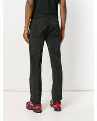 Givenchy - Black Moiré Effect Evening Trousers for Men - Lyst