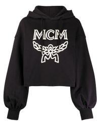 MCM ロゴ オーバーサイズ パーカー Black