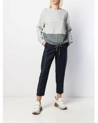 Sportmax バイカラー スウェットシャツ Gray
