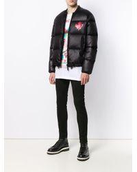 メンズ DSquared² ロゴ パデッドジャケット Black