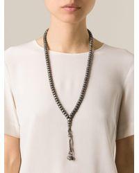 Monan - Black Woven Beads Necklace - Lyst