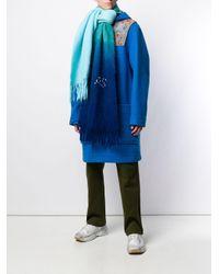 Acne Kelow Dye スカーフ Blue
