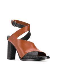A.F.Vandevorst Brown Block Heel Sandals