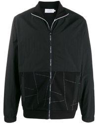 メンズ Calvin Klein ロゴ ボンバージャケット Black