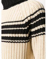 Essentiel Antwerp リブニット ストライプ セーター Multicolor