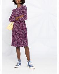 A.P.C. フローラル Aラインドレス Purple