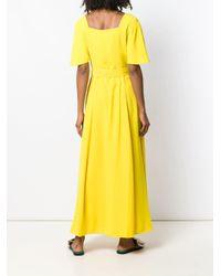 Calvin Klein ベルテッド マキシドレス Yellow