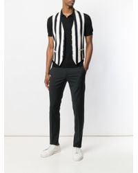 Tagliatore Black Slim-fit Polo Shirt for men