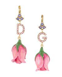 Dolce & Gabbana D&g Blooming Flower ピアス Pink