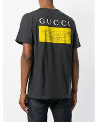 Gucci Gray Black Cat Printed T-shirt for men