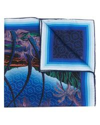 Платок С Графичным Принтом CASABLANCA для него, цвет: Blue