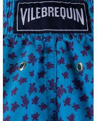 メンズ Vilebrequin プリント トランクス水着 Blue