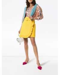 Prada ベルテッド ラッフル スカート Yellow