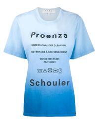 Camiseta PSWL con motivo tie-dye de manga corta Proenza Schouler de color Blue