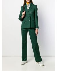 Строгий Костюм С Двубортным Пиджаком Calvin Klein, цвет: Green