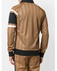 MSGM - Brown Striped Bomber Jacket for Men - Lyst