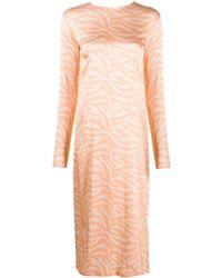 ANDAMANE アニマルプリント ドレス Multicolor