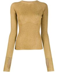 Lanvin Metallic Gerippter Pullover