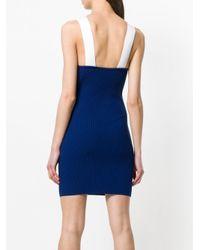Gcds Blue Logo Knit Dress