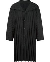 メンズ Homme Plissé Issey Miyake Edge コート Black