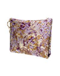 Jimmy Choo Purple Callie Metalic Jacquard Clutch