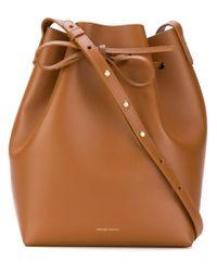 Mansur Gavriel - Brown Drawstring Bucket Bag - Lyst