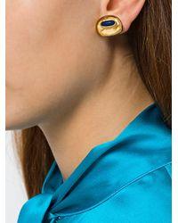 Aurelie Bidermann - Metallic Peggy Lapis Clip-on Earrings - Lyst