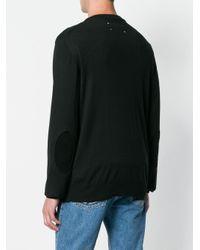 Maison Margiela Black Classic V-neck Sweater for men