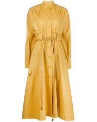 Fendi ベルテッド シャツドレス Yellow