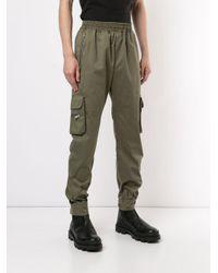 メンズ Represent カーゴパンツ Green