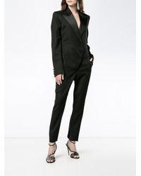 Saint Laurent - Black Tuxedo Jumpsuit - Lyst
