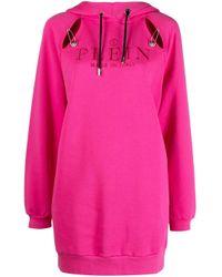 Худи С Вышитым Логотипом Philipp Plein, цвет: Pink