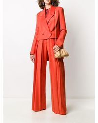 MSGM プリント トップ Red