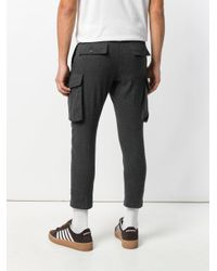DSquared² Gray Cropped Cargo Trousers for men