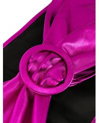 The Attico Pink Buckled Wide Belt
