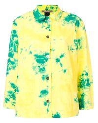 Suzusan Yellow Tie-dye Shirt