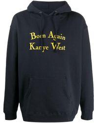 メンズ Chinatown Market Born Again Kanye West パーカー Blue