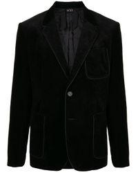 Blazer a coste di N°21 in Black da Uomo