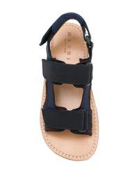 Marni Blue Platform Sandals
